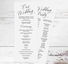 rustic wedding program templates free downloadable rustic wedding program templates wedbridal site
