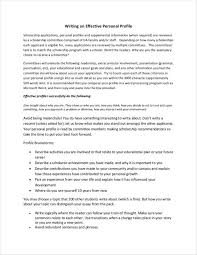 What Makes A Resume Stand Out 10 Personal Profile Sample