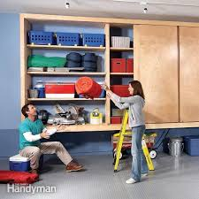 wood garage storage cabinets giant diy garage cabinet family handyman