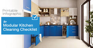 Pristine Your Infographics With Color Selection Color Schemes To Printable Infographic The Modular Kitchen Cleaning Checklist