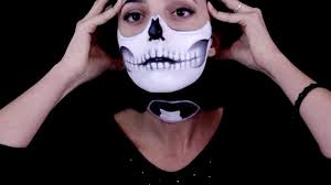 half halloween makeup half skull and floating head halloween makeup tutorial youtube