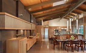 wooden interior lake forest park design by finne architects