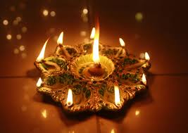 happy diwali diya decoration rangoli