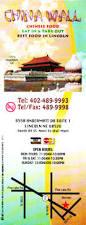 China Wall Buffet Coupon by China Wall Menu 8550 Andermatt Dr 3 Lincoln Ne 68526 402