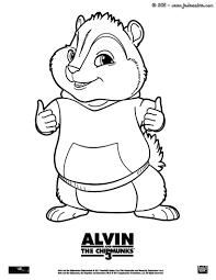 simon chipmunk coloring pages virtren com