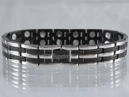 black magnetic bracelet stainless images Stainless steel magnetic bracelet long island bs double jpg