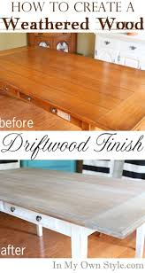 furniture makeover weathered driftwood furniture finish diy