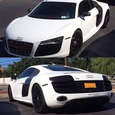 Audi R8 White - audi r8 v10 in gloss white with blacked out headlights tail lights