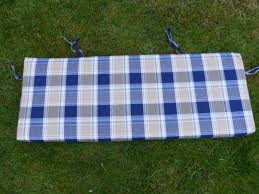 replacement cushion for 2 3 seater garden swing seat blue beige