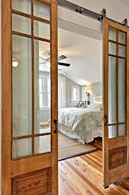 Barn Door Bathroom Privacy by Curtains On One Side Of This Fabulous Pair Of Sliding Barn Doors