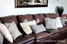 Large Brown Leather Sofa Fashionable Accent Pillows For Leather Pillows Large