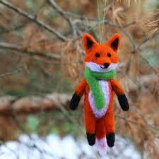 shop needle felt fox on wanelo