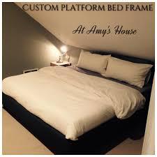 diy upholstered platform bed frame cozy zoey