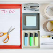 orginized to get organized at work