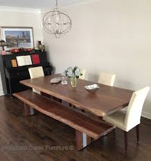 Dining Room Table Contemporary Edge Modern Dining Table Live Edge Solid Slab Modern