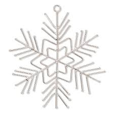 ornament frame carbon steel 6 inch snowflake with 6 legs 18