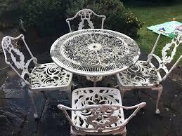 White Metal Patio Chairs Patio Ideas White Metal Patio Furniture White Metal Garden Table