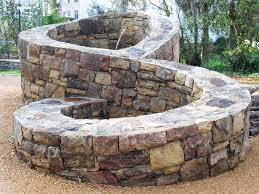 Fire Pit With Water Feature - structures u2014 winding path custom stone masonry
