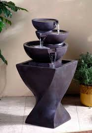 tiki water fountain outdoor yard 3 garden statue totem tiered