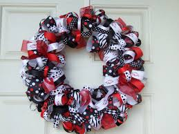 ribbon wreath razorback ribbon wreath ribbon wreath door decor housewares
