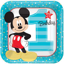 mickey mouse birthday disney mickey mouse 1st birthday dinner plates 8