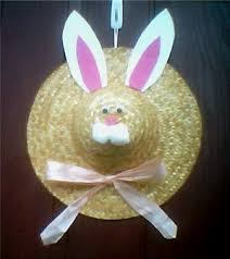 easter bunny hat a straw hat bunny thriftyfun