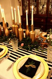 black and gold christmas table decorations archives decorating