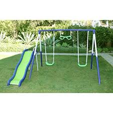 Amazon Backyard Playsets by Amazon Com Swing N Slide Glider Metal Playset For Kids Swing Set