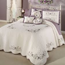 vintage bloom lavender grande bedspread bedding