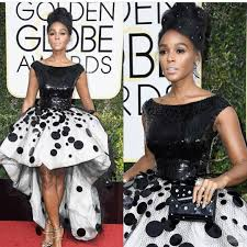 janelle monae celebrity party dresses ball gown black and