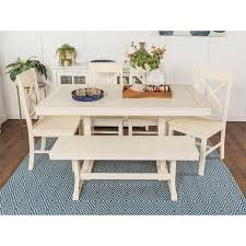 White Furniture Company Dining Room Set Walker Edison Furniture Company Millwright 7 Antique White