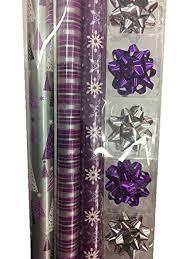 purple gift wrap shimmering silver plum gift wrap ensemble paper
