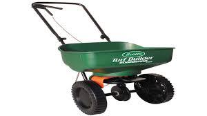 lesco high wheel fertilizer spreader with manual deflector 101186