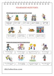 possessive adjectives pronouns gor pinterest english