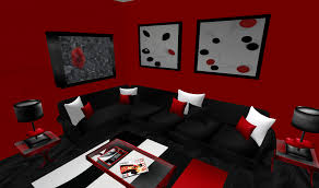 fabulous red and black living room decor with red black and white