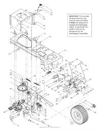 mtd 13bt604g452 2003 parts diagram for drive controls wheels rear