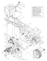 mtd 13bt604g452 2003 parts diagram for drive controls wheels rear