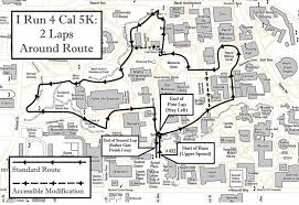 Map Run Route by I Run 4 Cal 5k Run Walk 2013 Caa