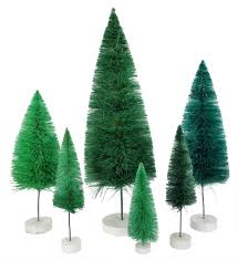 cody foster vintage christmas bottle brush trees traditions