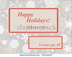 vintage xmas paper greeting card merry stock vector 159069260