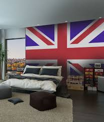 papier peint chambre ado spécialiste français papier peint londres drapeau anglais salon