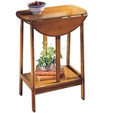 drop leaf end table amazon com wooden english dropleaf accent table brown kitchen