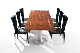 contemporary dining table wooden aluminum oval neolitico