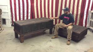 repurpose metal file cabinet reclaimed file cabinet and custom industrial cart coffee table by