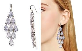 silver chandelier earrings chandelier earrings bloomingdale s