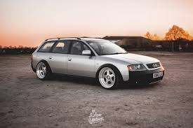 slammed audi wagon oz wheels slam sanctuary