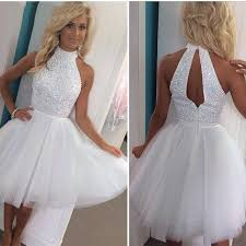 white graduation dresses for 8th grade 2017 rhinestone homecoming dresses 8th grade graduation prom