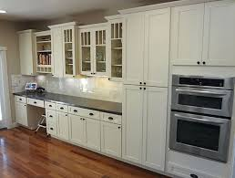 kitchen elegant painted white shaker kitchen cabinets gray