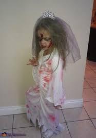 Girls Zombie Halloween Costume Child Zombie Bride Costume Girls Kids Halloween Fairytale Corpse