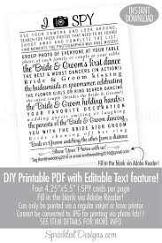 wedding i spy game printable cards modern wedding printables